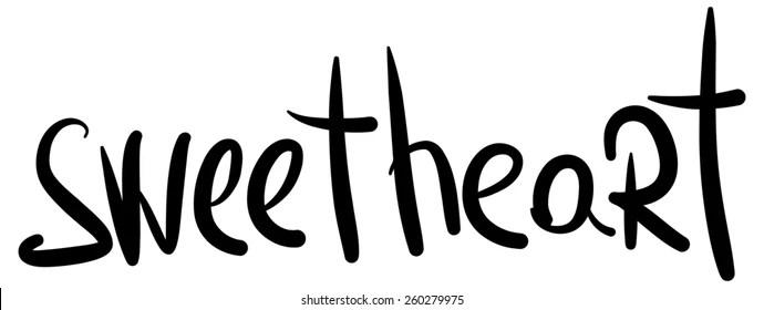 Word Sweetheart Stock Vector (Royalty Free) 259159613 - Shutterstock