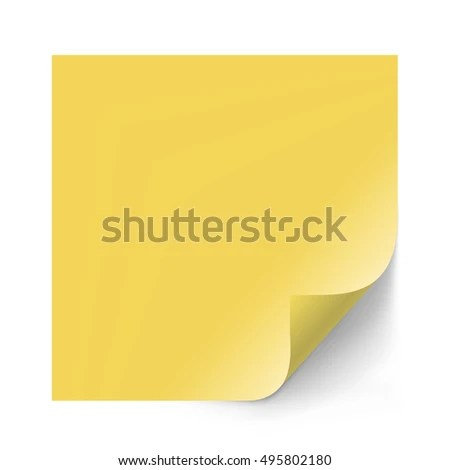 Yellow Sticker Paper Note Memo Notice Stock Illustration 495802180