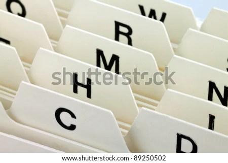 Alphabetical Index Sort Index Cards Customer Stock Photo (Edit Now