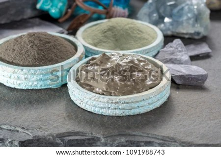 Ancient Nature Minerals Different Types Clay Stock Photo (Edit Now