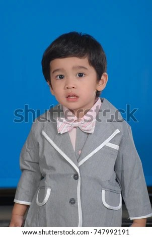 Asian Childrens Picture Student Identification Card Stock Photo