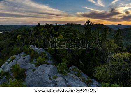Atop Bald Mountain Sunset Adirondack Mountains Stock Photo (Edit Now