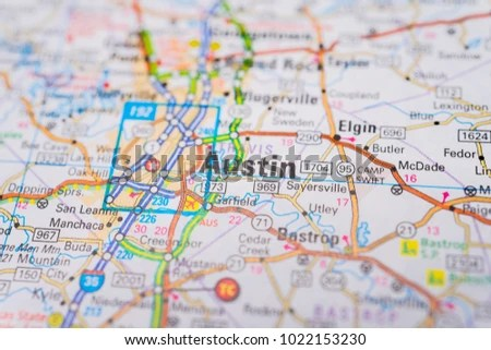 Austin USA Map Background Stock Photo (Edit Now) 1022153230