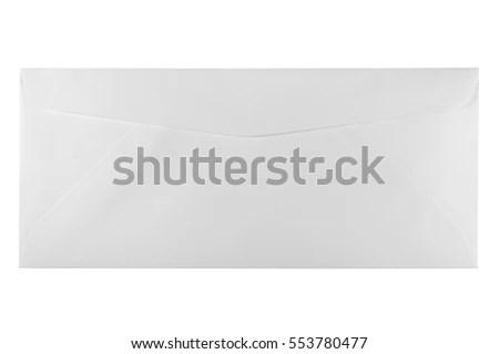 Back Unused White Letter Size Envelope Stock Photo (Edit Now