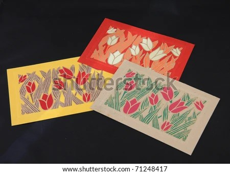 Beautiful Collection Note Cards Used Thank Stock Photo (Edit Now