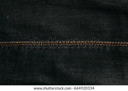 Black Jeans Texture Stitching Denim Texture Stock Photo (Edit Now
