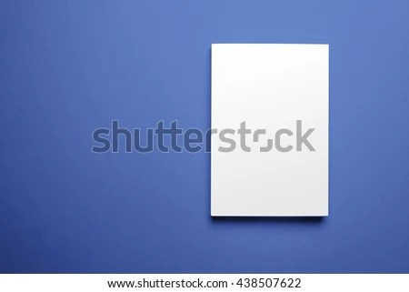 Blank Magazine Cover Template Isolated On Stock Photo (Edit Now