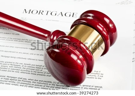Blank Mortgage Application Form Gavel Stock Photo (Edit Now