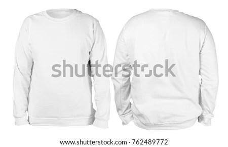 Blank Sweatshirt Mock Template Front Back Stock Photo (Edit Now