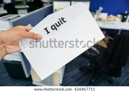 Business Concept Woman Submit Resignation Letter Stock Photo (Edit
