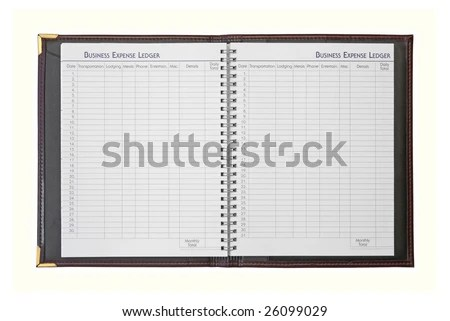 Business Expense Ledger Book Isolated On Stock Photo (Edit Now
