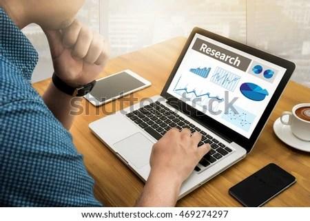 Business Research Data Economy Computing Computer Stock Photo (Edit