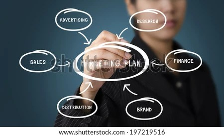 Business Woman Writing Marketing Plan Concept Stock Photo (Edit Now