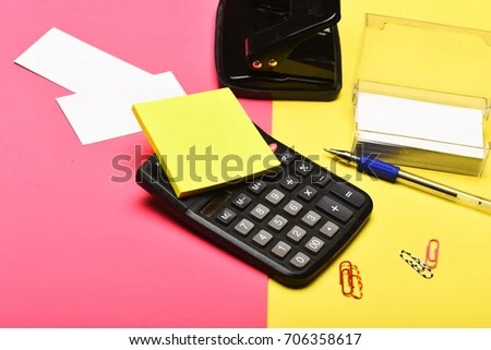 Business Work Concept Business Card Holder Stock Photo (Edit Now