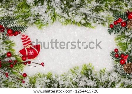 Christmas Greeting Card Christmas Border Copy Stock Photo (Edit Now