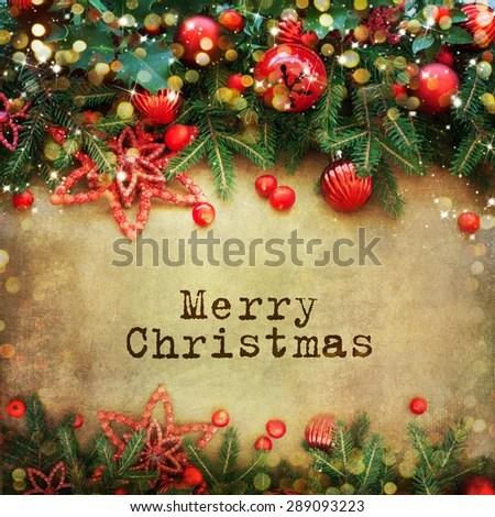 Christmas Retro Card Border Design Stock Photo (Edit Now) 289093223