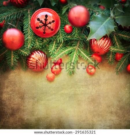 Christmas Retro Card Border Design Stock Photo (Edit Now) 291635321