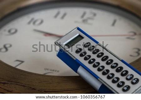 Clock Calculator Concepttime Best Healer Wall Stock Photo (Edit Now
