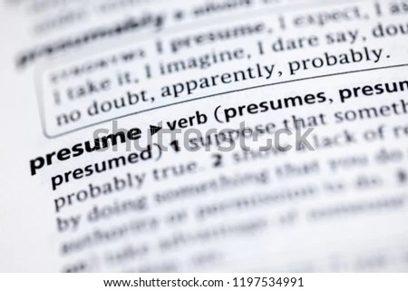Close Dictionary Definition Presume Stock Photo (Edit Now