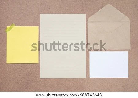 Collection Letter Paper Gift Card Envelope Stock Photo (Edit Now