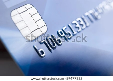 Details Credit Card Chip Numbers Shallow Stock Photo (Edit Now