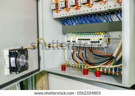 Electric Power Circuit Breakers Fuse Box Stock Photo (Edit Now