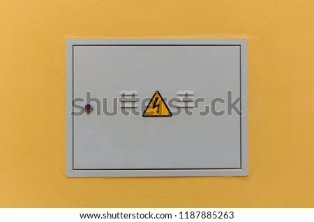 Electrical Panel Closed Fuse Box On Stock Photo (Edit Now