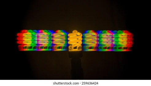 Emission Spectrum Fluorescent Lamp Cold Light Stock Photo  Image