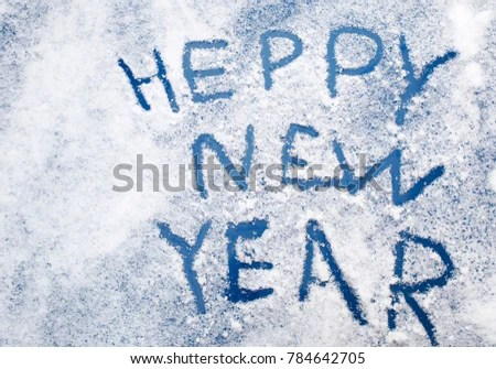 English Words Congratulations On New Year Stock Photo (Edit Now