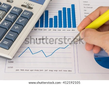 Financial Analyst Growth Investment Analysis Report Stock Photo