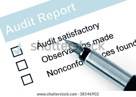 Fountain Pen Over Audit Report Check Stock Photo (Edit Now) 38546902