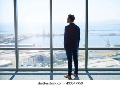 Man Looking Out Window Images Stock Photos Vectors