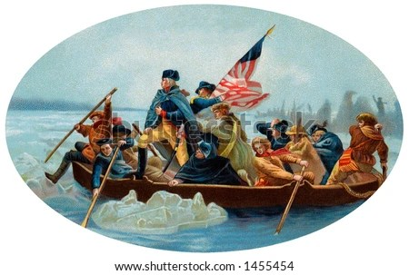 George Washington Crossing Delaware Oval 1908 Stock Photo (Edit Now