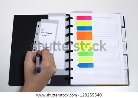 Getting Day Planned Managing Family Agenda Stock Photo (Edit Now