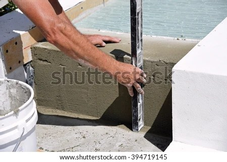 Glass Tile Layer Working On Outdoor Stock Photo (Edit Now) 394719145