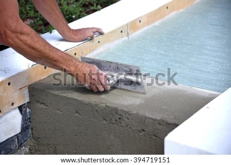 Glass Tile Layer Working On Outdoor Stock Photo (Edit Now) 394719151