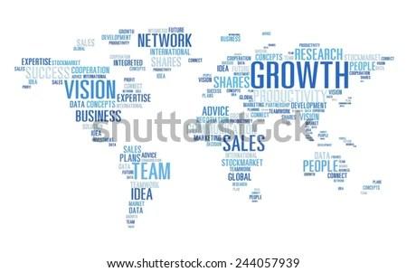 Global Business Communication Plan Strategy Success Stock Photo