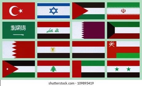 Middle East Flags Images, Stock Photos  Vectors Shutterstock