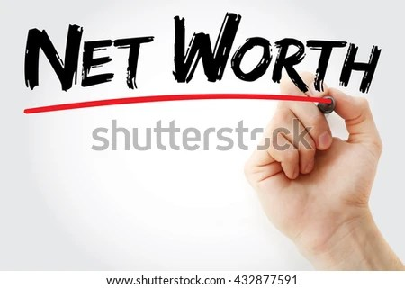 Hand Writing Net Worth Marker Business Stock Photo (Edit Now