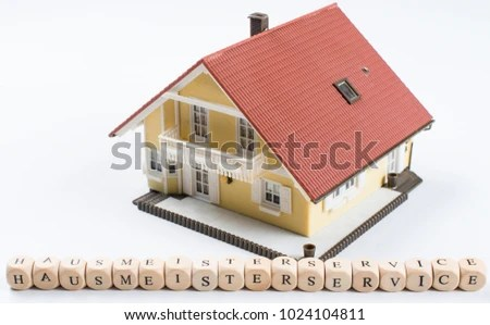 Hausmeisterservice German Text Janitor Service Word Stock Photo