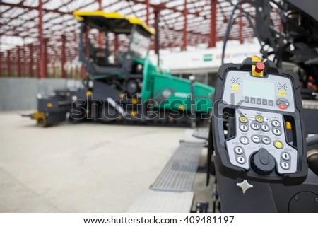 Industrial Vehicle Asphalting Machine Excavator Dashboard Stock