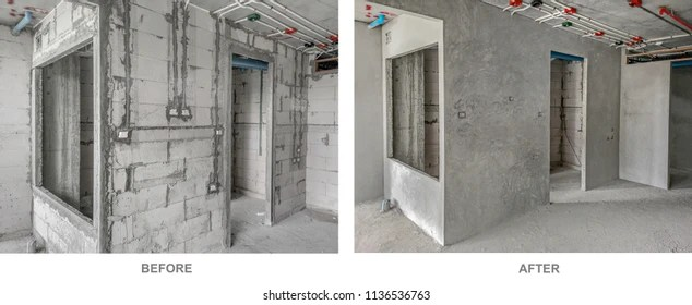 Installation Electrical Wiring On Wall Work Stock Photo (Edit Now