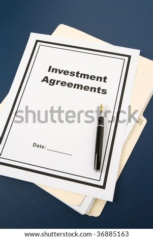 Investment Agreement Pen Business Concept Stock Photo (Edit Now