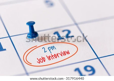 Job Interview Appointment On Schedule Recruitment Stock Photo (Edit