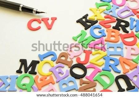 Letters Alphabet Words Cv Stock Photo (Edit Now) 488041654