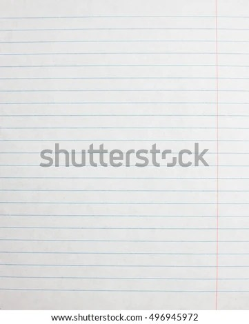 Lined Paper Sheet Blank Template Notebook Stock Photo (Edit Now