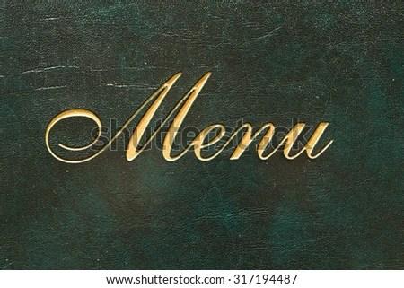 Menu Cover Restaurant Word Menu Stock Photo (Edit Now) 317194487