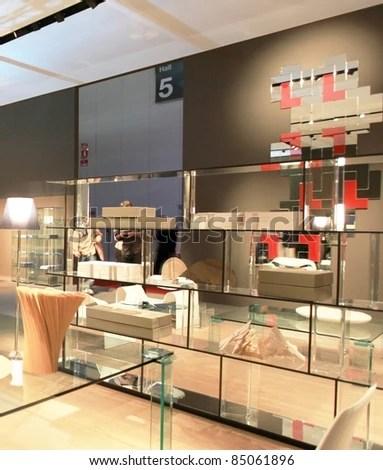 MILAN APRIL 15 Closeup Interior Design Stock Photo (Edit Now