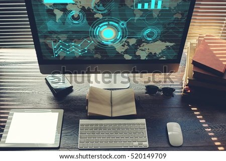 Mock Home Desktop Pc Computer Touch Stock Photo (Edit Now) 520149709