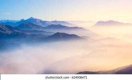 Wallpaper Sunrise At Fall Mountain Fog Images Stock Photos Amp Vectors Shutterstock